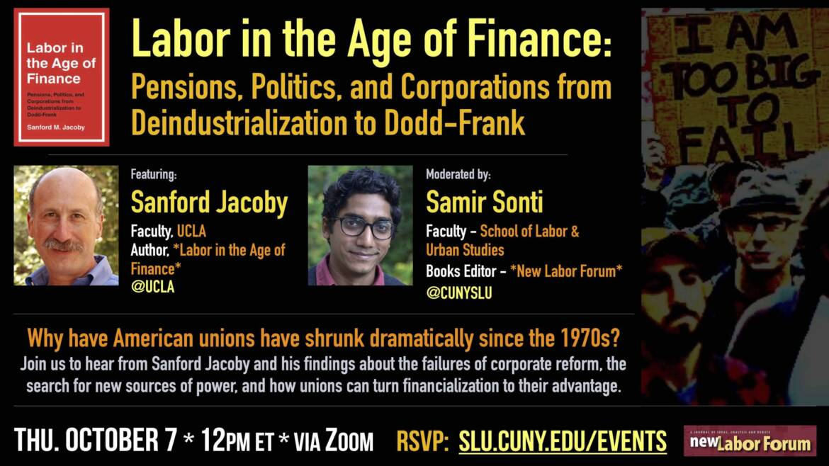 Online Event: Why have American unions have shrunk dramatically since the 1970s?
